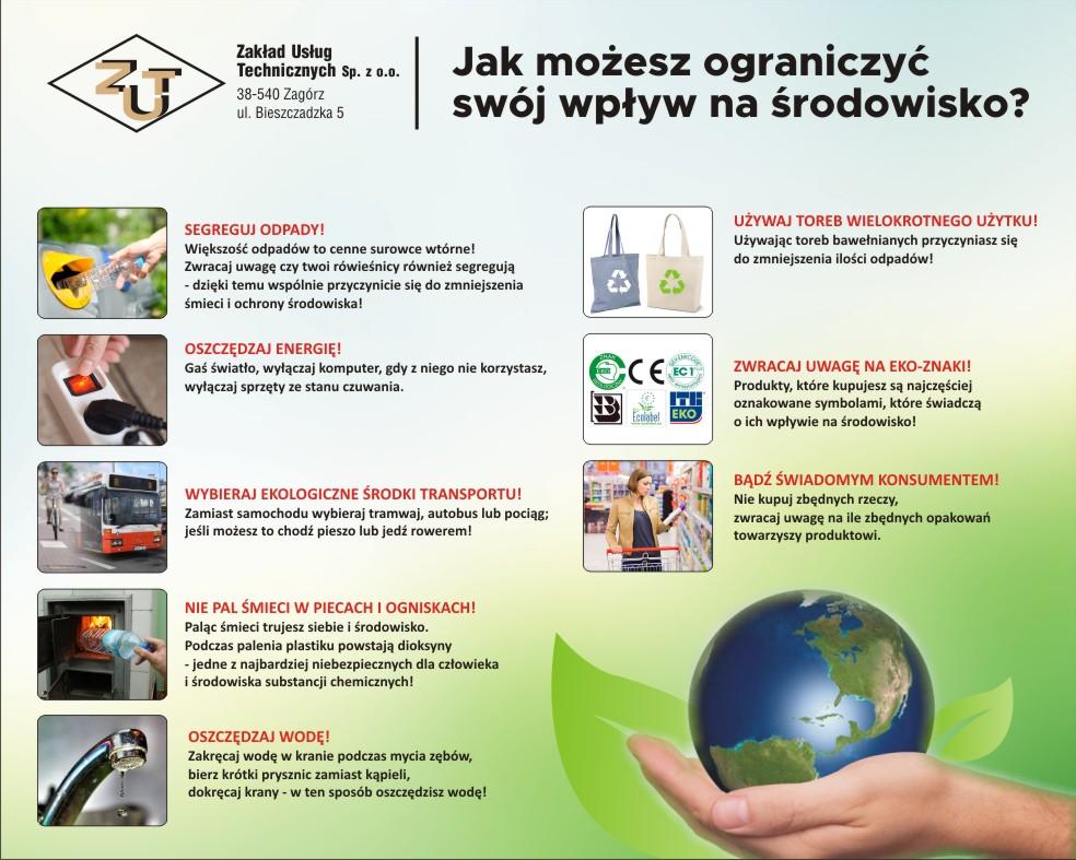 Jak możesz ograniczyć swój wpływ na środowisko?